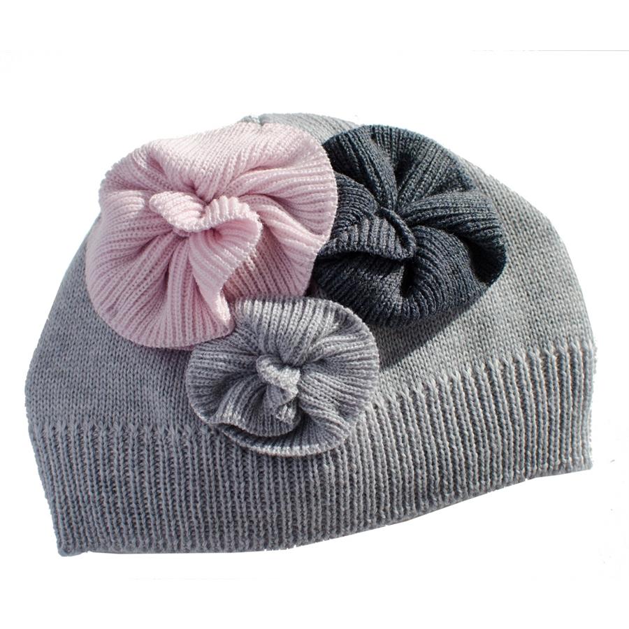 Bonnet-bebe-fille-en-laine-gris-et-rose-a-fleurs-FLORA-15488_42761