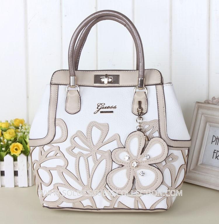 Guess-Sac_a_Main-Jaquard_fleur-Blanc-1