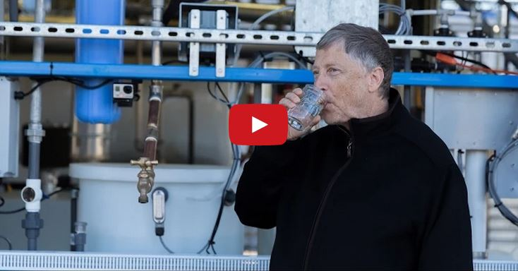 bill gates drink human waste water