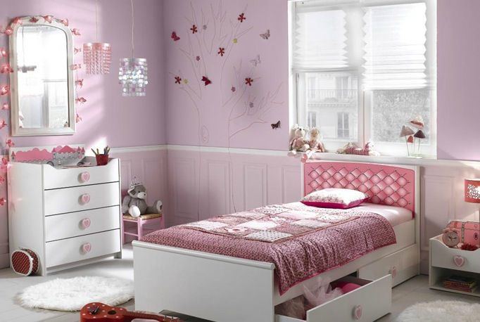 Chambre fille 025 la perle rose - Chambre a coucher petite fille ...